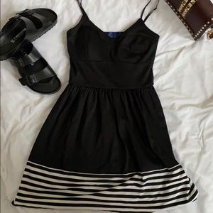 Modcloth short knit black skater dress